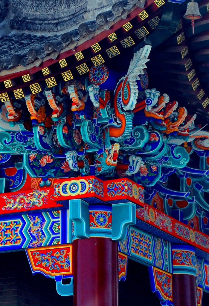 Chine Temple ceiling Xian